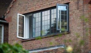 Black aluminium windows