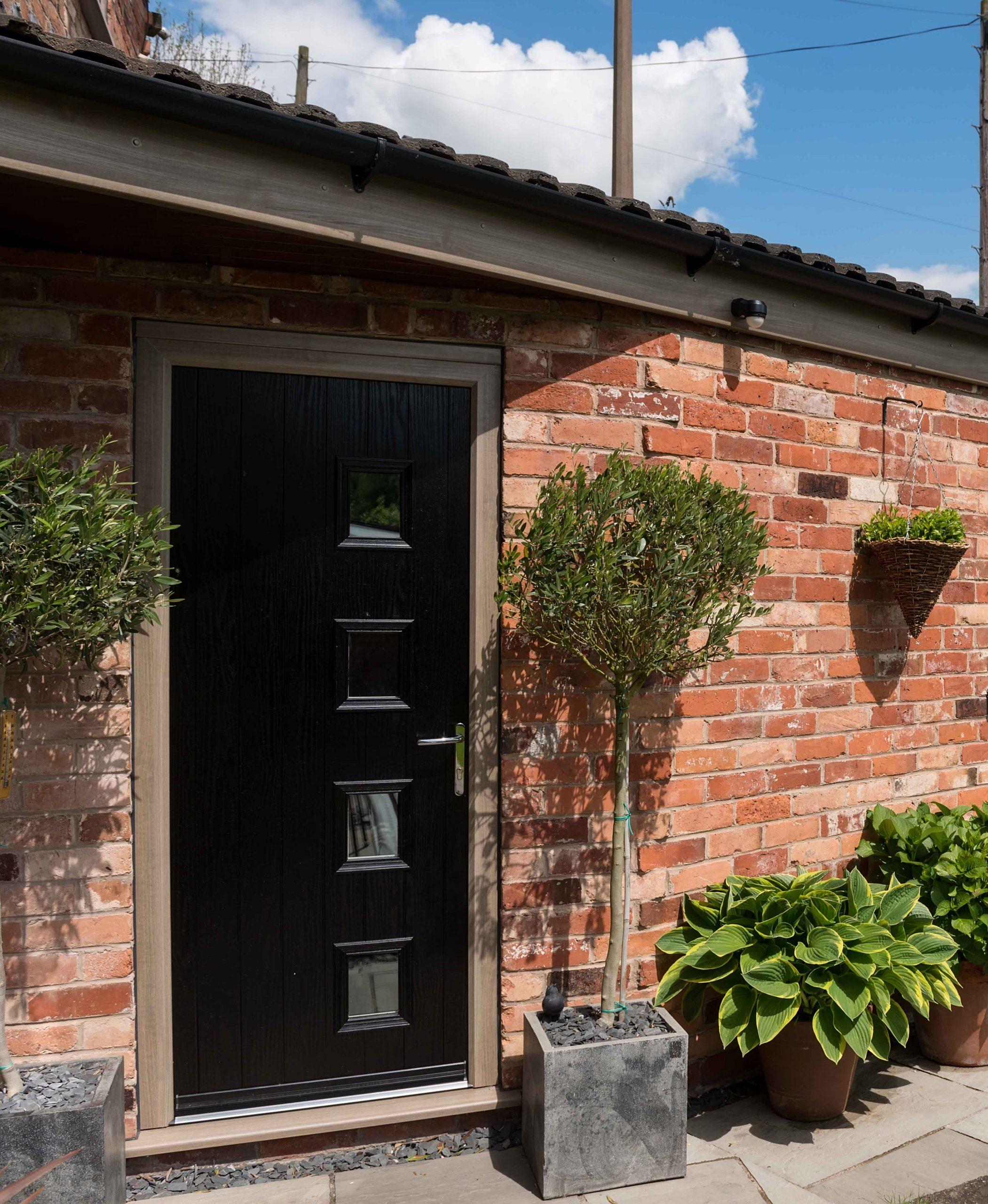 Black composite back door