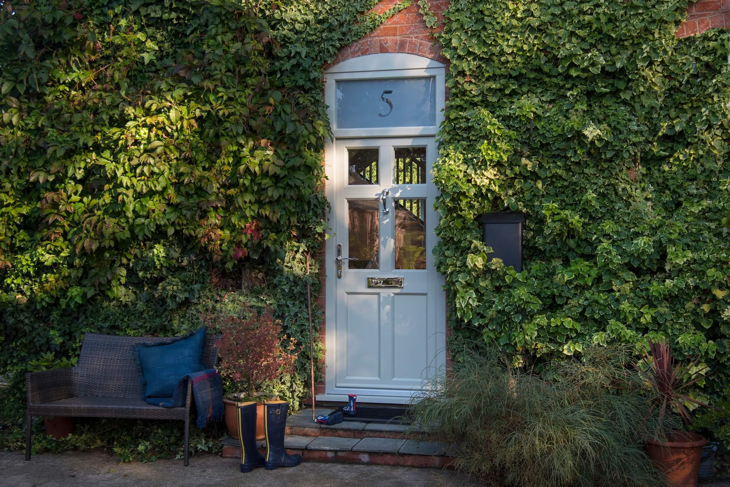 Timber effect uPVC front door