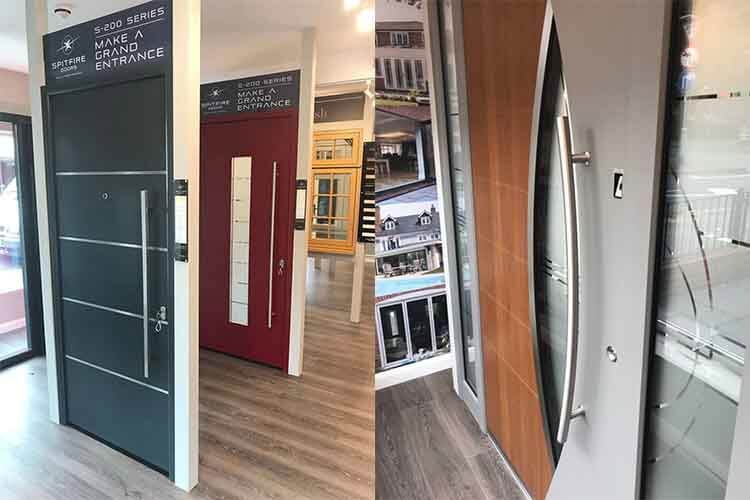 Sherborne showroom - door display