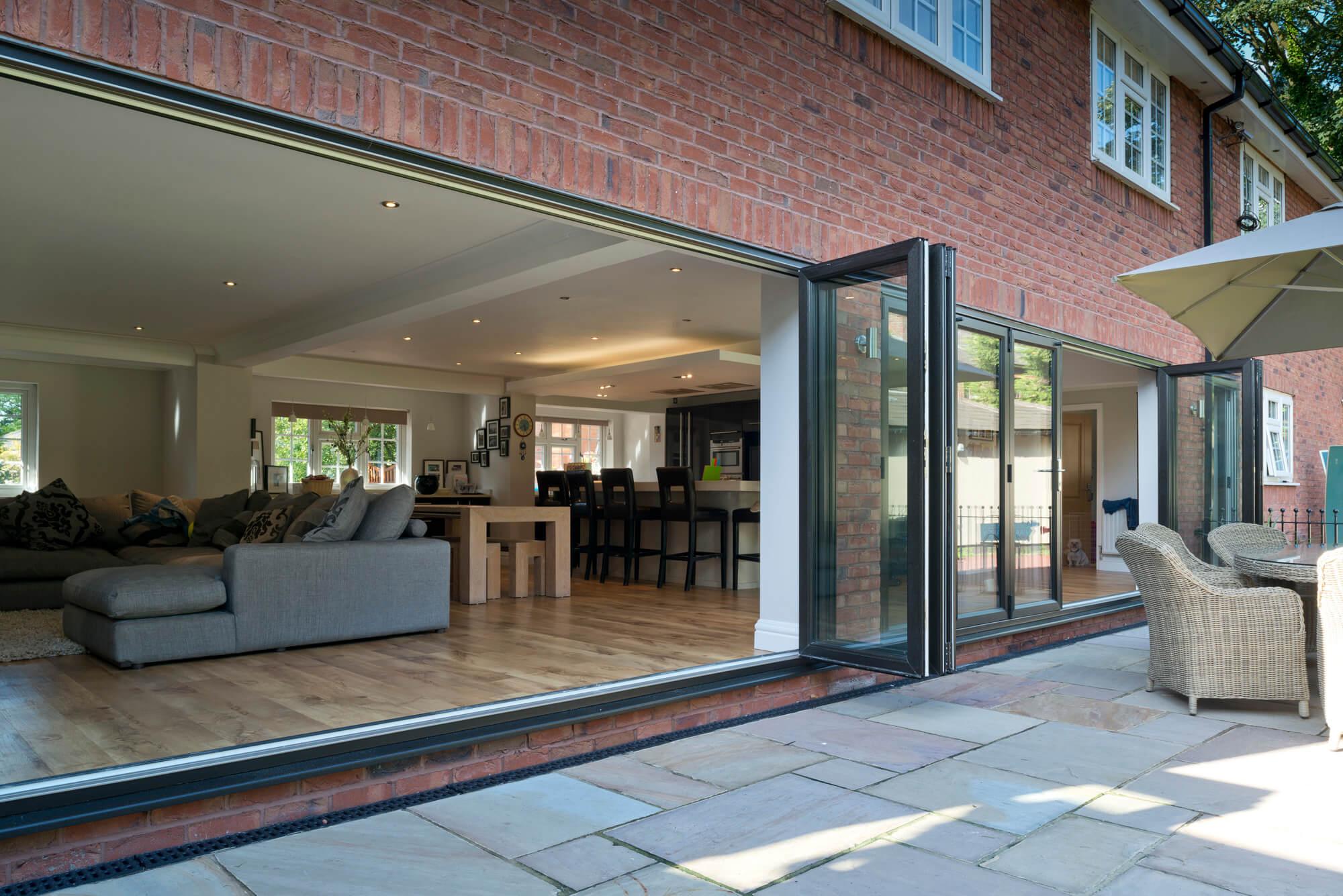 Black Sliders UK bifold door