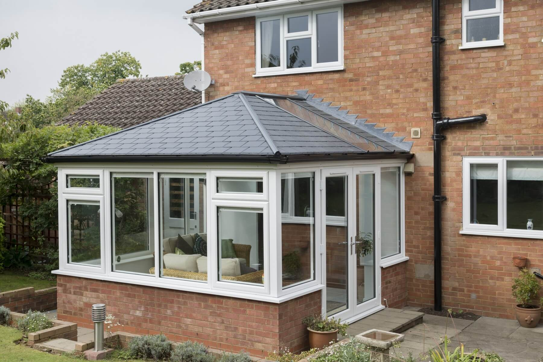 Ultrafame solid roof conservatory
