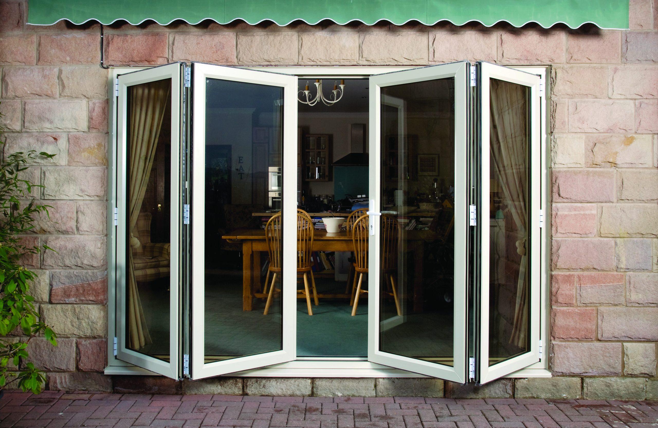 White uPVC bifold door