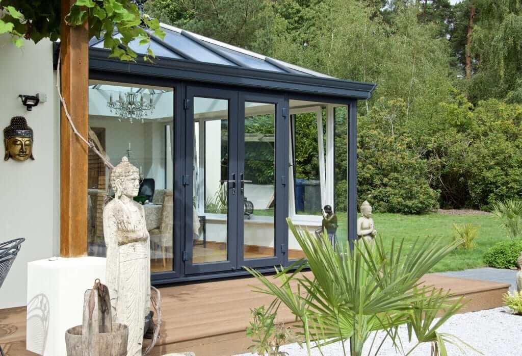 modern anthracite grey conservatory