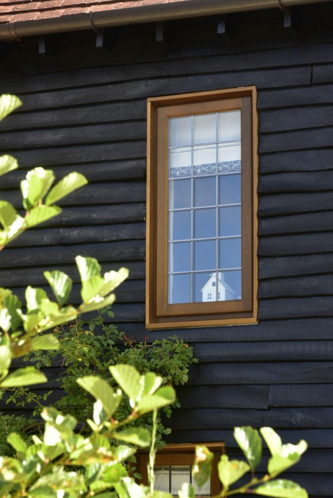 wooden effect window